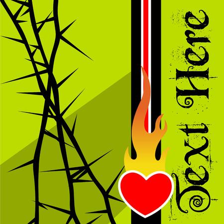 Retro Graphic Template for Valentine