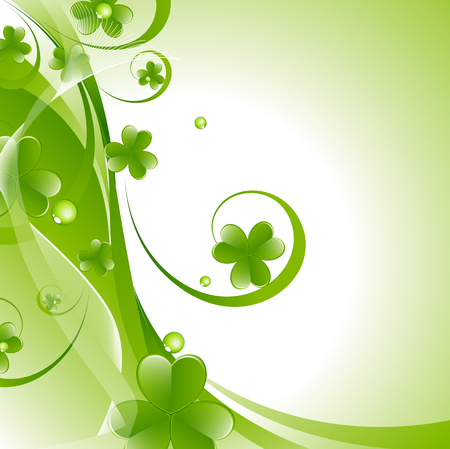 patricks day: Abstract Patricks Day Flourish Background