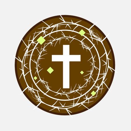 Thorns Frame Around the Holy Cross