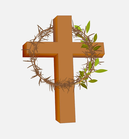 thorns: Thorns Crown Isolated on Holy Cross