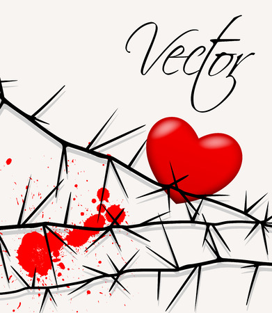 Painful Heart Vector Graphic