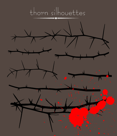Silhouettes of Thorns Wires