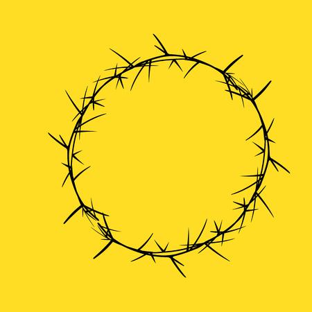 dangerous weapons: Retro Thorns Circular Frame Vector