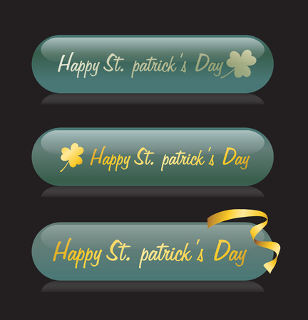 web buttons: Patricks Day Web Buttons