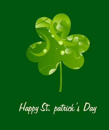 clover leaf shape: Patricks Day Greeting Template