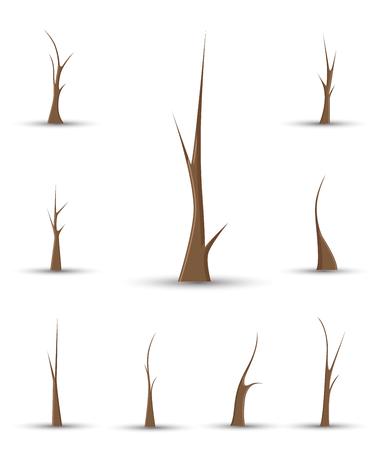 toter baum: Dead Tree Trunks Shapes
