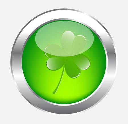 threeleaf: Clover Leaf Button Illustration