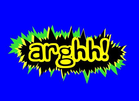 dynamite: Arghhh Retro Comic Expression