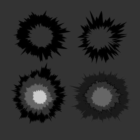 dynamite: Bursting Shapes Illustration