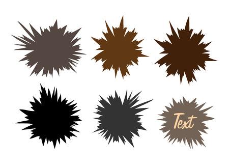 anger abstract: Burst Shapes Illustration
