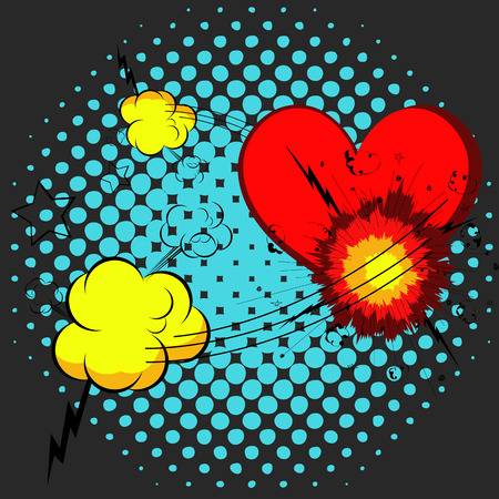 love dynamite: Abstract Burst Graphic with Heart