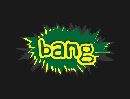 bang: Bang Text Retro Banner