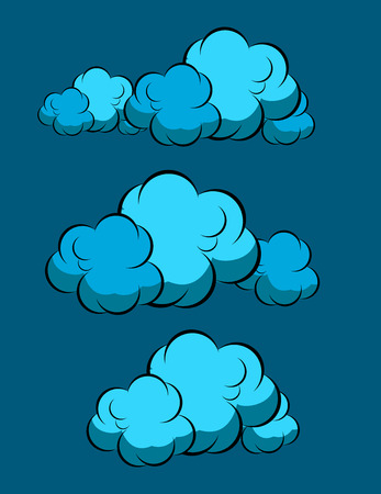 wind dramatic sky: Stormy Clouds Vectors Illustration