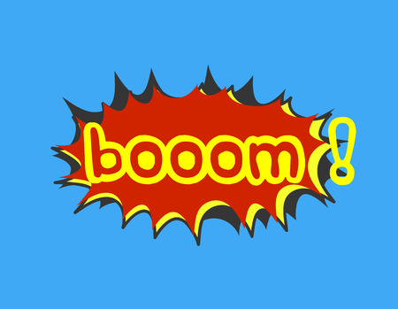 anger abstract: Boom Comic Expression Banner Illustration