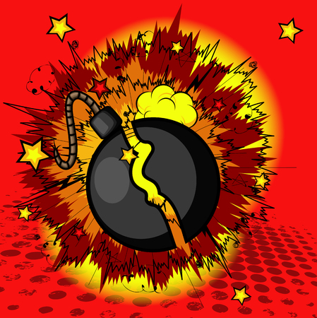 Bomb Blast Vector Graphic