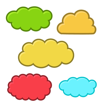 Cute Comic Clouds Illustration