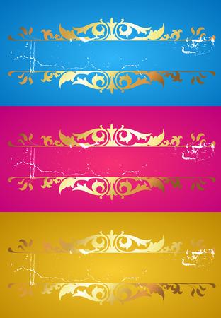 Golden Flourish Banners