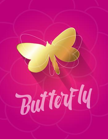 golden: Golden Butterfly Illustration