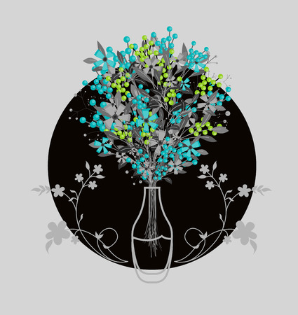 Fancy Decor Flowers Bunch with Vase