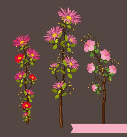 twigs: Flowers Twigs Vector