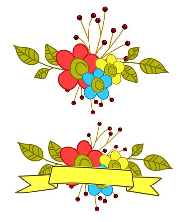 Decorative Colorful Flowers for Festival Illustration