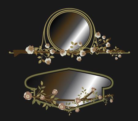 mirror frame: Ancient Flourish Mirror Frame Designs