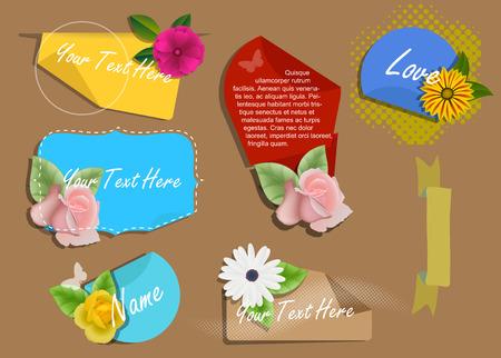 golden daisy: Decorative Valentine Banners Vectors