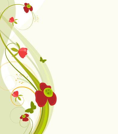 swirl: Beautiful Swirl Flowers Elements Background Illustration