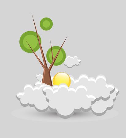 toter baum: Toter Baum �ber den Wolken und Sonne