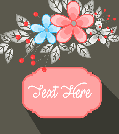 fancy: Fancy Flowers Greeting Banner Illustration