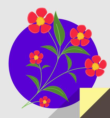 best wishes: Red Blossoms Twig Sticker