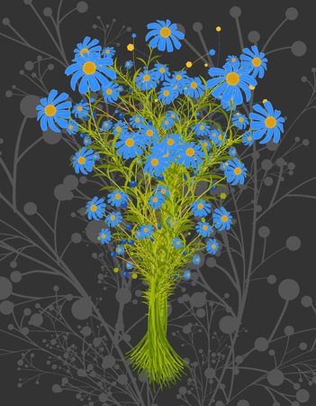 bunch: Bunch of Blue Flowers