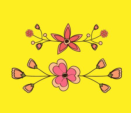 separators: Retro Flower Separators Illustration