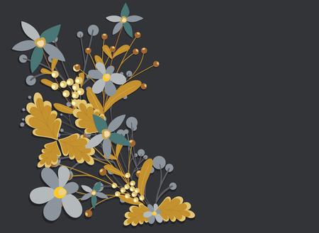 weeds: Flowers Weeds Elements Vector