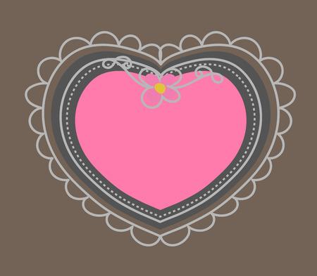 kiddies: Scrapbooking Heart Frame Vector