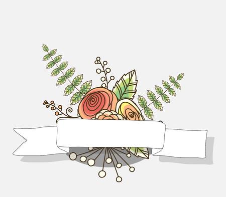 Fancy Flowers Festive Banner Illustration