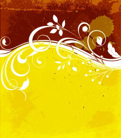grunge banner: Grunge Flourish Poster Banner