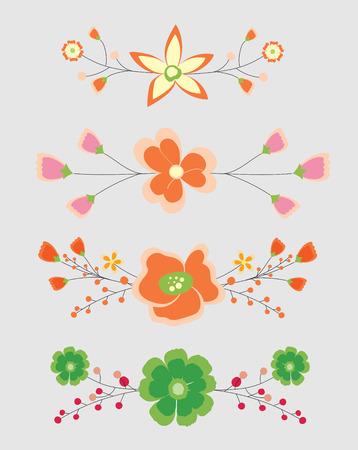 separators: Vintage Flowers Separators