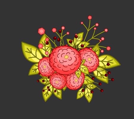 bunch: Flowers Bunch Vector Graphic
