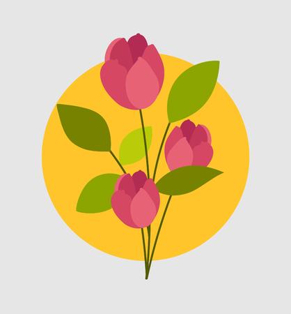 Romantic Valentine Flowers Branch