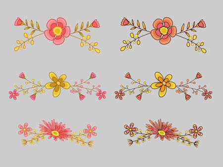 separators: Floral Separators Set