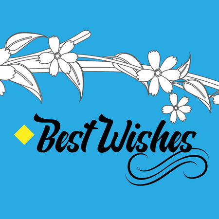 wishing card: Wishing Card with Floral Design