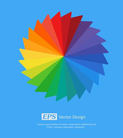 Vector arcobaleno Wheel