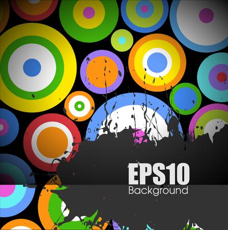 circles: Colorful Circles Grunge Banner