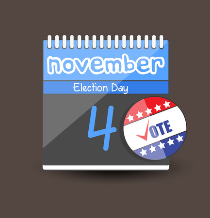 vote button: Vote Button Icon - Election Day Calendar Vector