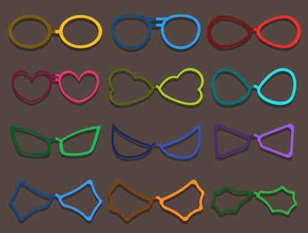specs: Colorful Fancy Specs Frames Set