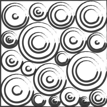 circles pattern: Rough Circles Pattern Background