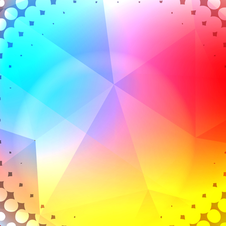 wrinkly: Abstract Rainbow Halftone Background