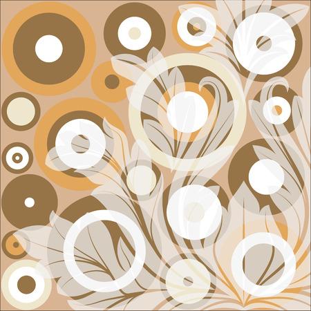 circles: Retro Circles Flourish Background Illustration