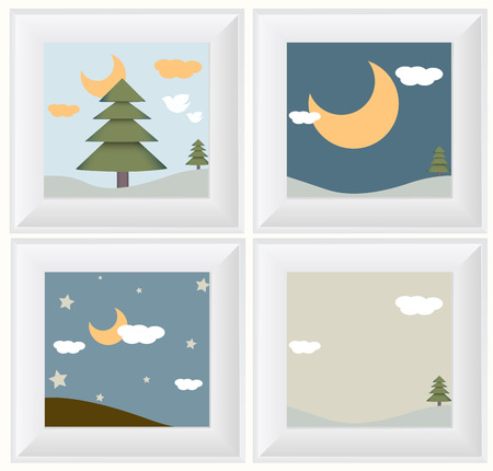 early in the evening: Comic Scenery with Frames